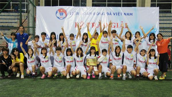 Hà Nội vô địch giải bóng đá tập huấn nữ U16 năm 2017