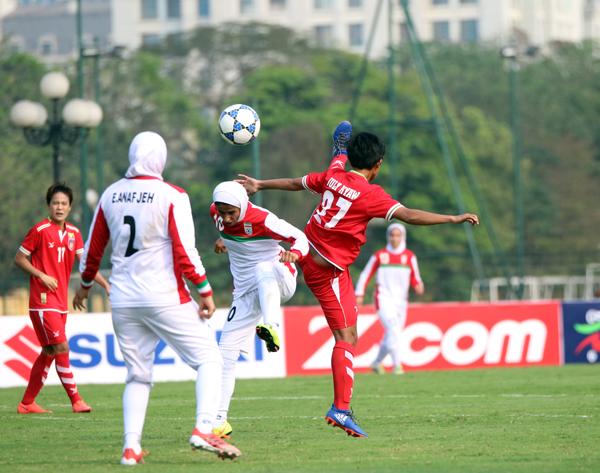 VL Asian Cup Nữ 2018 (Bảng D): Đánh bại Iran, Myanmar có 3 điểm đầu tiên