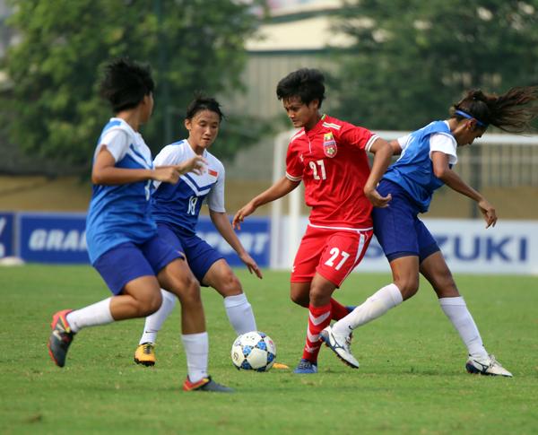 VL Asian cup nữ 2018 (bảng D, ngày 9/4): Singapore không tạo được bất ngờ trước Myanmar