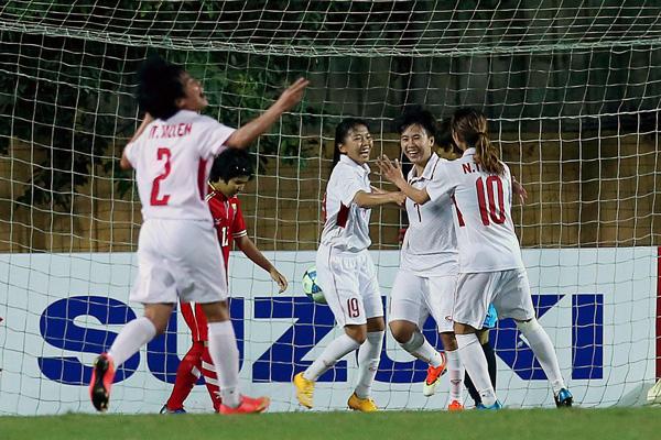 Đánh bại Myanmar, Việt Nam giành vé dự VCK Asian Cup nữ 2018