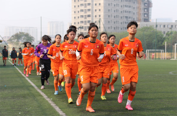 ĐT U15 nữ Quốc gia chuẩn bị tham dự giải U15 nữ AFF 2017: Tập trung rèn kỹ thuật và thể lực