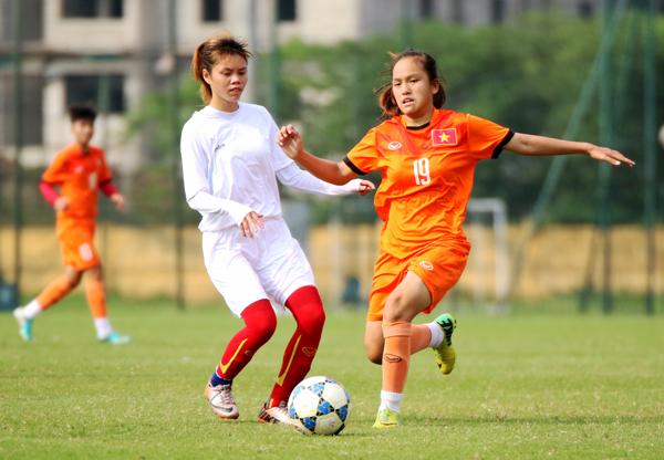 U15 nữ QG đấu tập với U19 nữ Hà Nội (25/4): Định hình bộ khung thi đấu