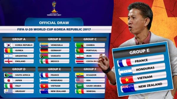 Lịch thi đấu của ĐT U20 Việt Nam tại VCK U20 World Cup 2017