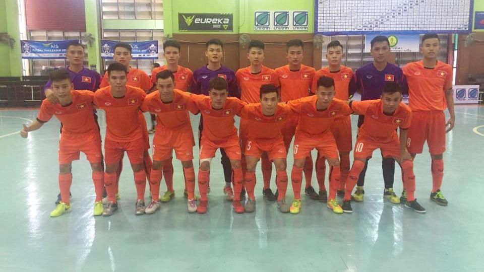 Đội tuyển U20 futsal Việt Nam thắng đậm U20 Uzbekistan trong trận giao hữu