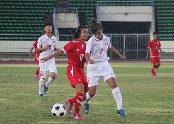 Giải U15 nữ Đông Nam Á 2017: Thua sát nút Myanmar 1-2, Việt Nam hẹp cửa đi tiếp