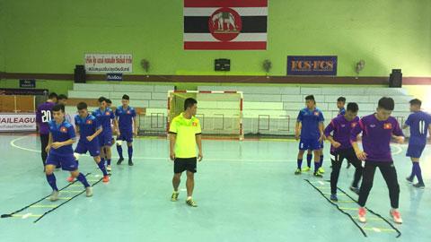 U20 Futsal Việt Nam tổng duyệt với U20 Trung Quốc