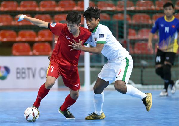 Futsal U20 châu Á 2017: Việt Nam hoà Indonesia 1-1