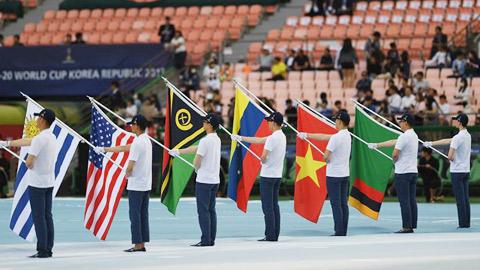Quốc kỳ Việt Nam tung bay ở đấu trường World Cup