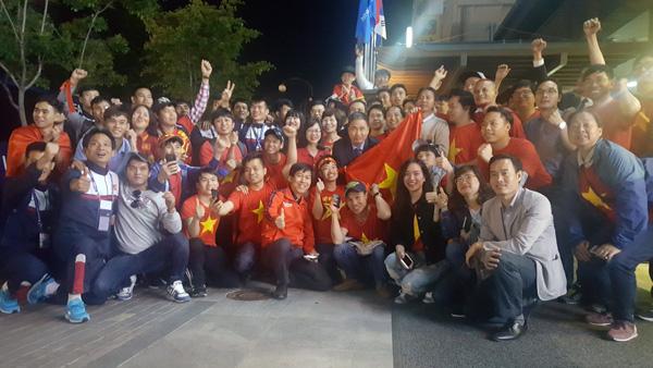 Đại sứ quán Việt Nam tại Hàn Quốc, kiều bào và các CĐV chúc mừng U20 Việt Nam
