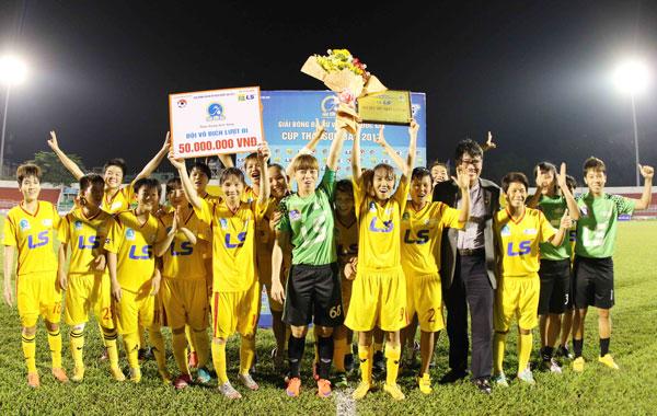 TP Hồ Chí Minh I vô địch lượt đi giải bóng đá nữ VĐQG - Cúp Thái Sơn Bắc 2017