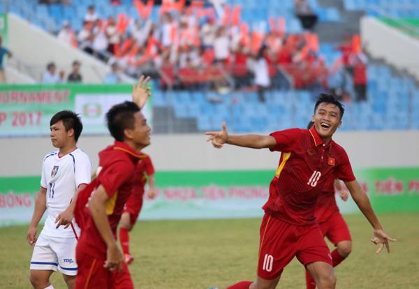 U15 Việt Nam đại thắng trận ra quân tại Giải bóng đá quốc tế U15 – Cúp Nhựa Tiền Phong 2017