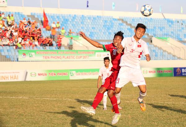 Giải bóng đá quốc tế U15- Cúp Nhựa Tiền Phong 2017: Việt Nam chia điểm với Indonesia