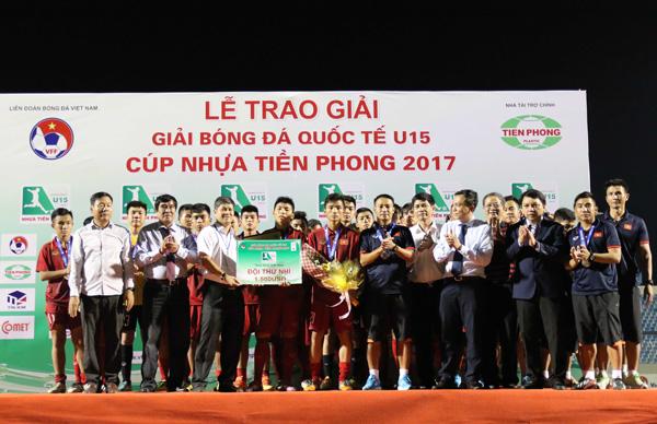 U15 Việt Nam giành HCB tại Giải bóng đá quốc tế U15- Cúp Nhựa Tiền Phong 2017
