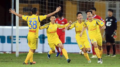 Vòng 9 giải HNQG Sứ Thiên Thanh 2017: Nam Định lên đầu bảng