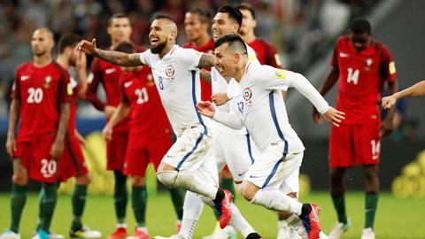 Hạ Bồ Đào Nha bằng luân lưu, Chile vào chung kết Confed Cup 2017