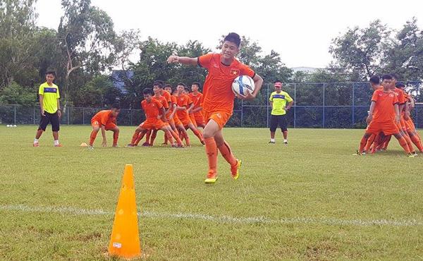 U15 Việt Nam tích cực chuẩn bị cho trận ra quân tại giải U15 AFF 2017