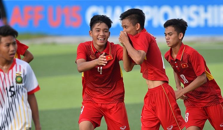 U15 Việt Nam thắng trận thứ hai liên tiếp tại Giải vô địch U15 AFF 2017