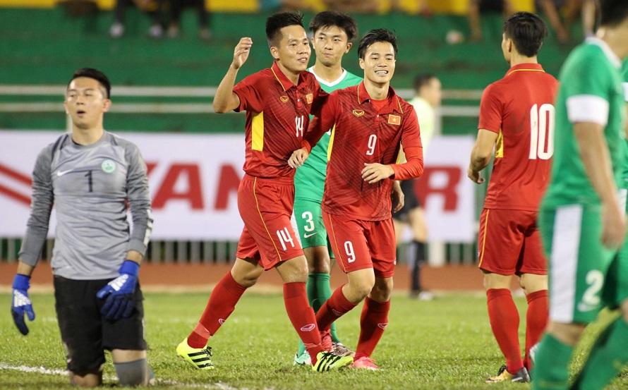 VL U23 châu Á 2018: Thắng đậm Macau, U22 Việt Nam vươn lên nhất bảng