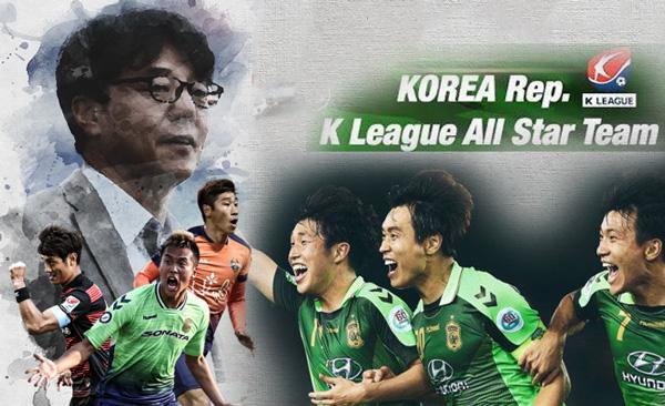 Tuyển các Ngôi sao K League chốt lịch sang Việt Nam
