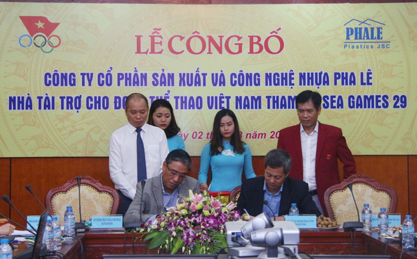 Công bố tài trợ cho Đoàn thể thao Việt Nam tham dự SEA Games 29