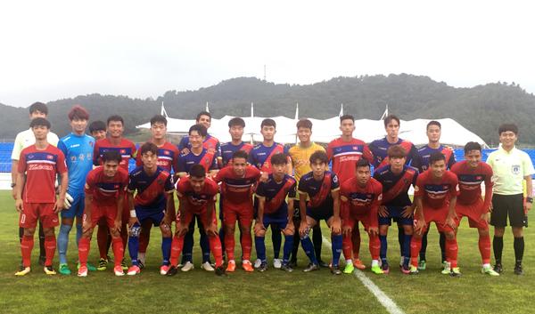 Giao hữu tại Mokpo, U22 Việt Nam lội ngược dòng thắng Busan FC 6-1