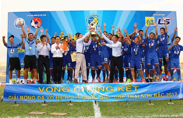 CHUNG KẾT U15 QUỐC GIA - CÚP THÁI SƠN BẮC 2017:PVF vô địch