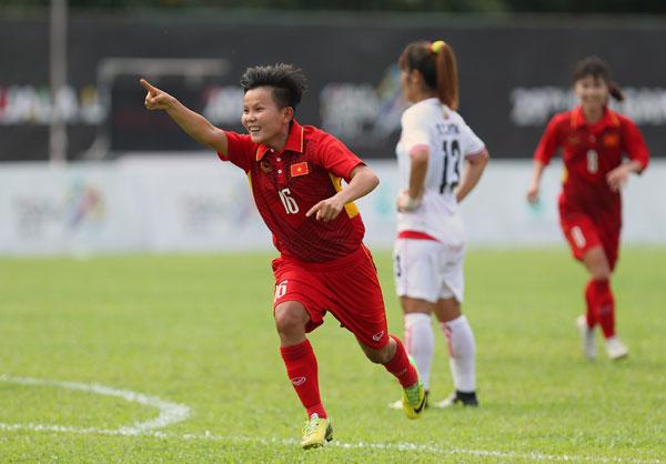 Bóng đá nữ SEA Games 29: Việt Nam vs Myanmar: 3-1