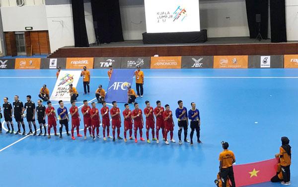 [Futsal nam SEA Games 29] Việt Nam vs Malaysia: Trận hòa đáng tiếc