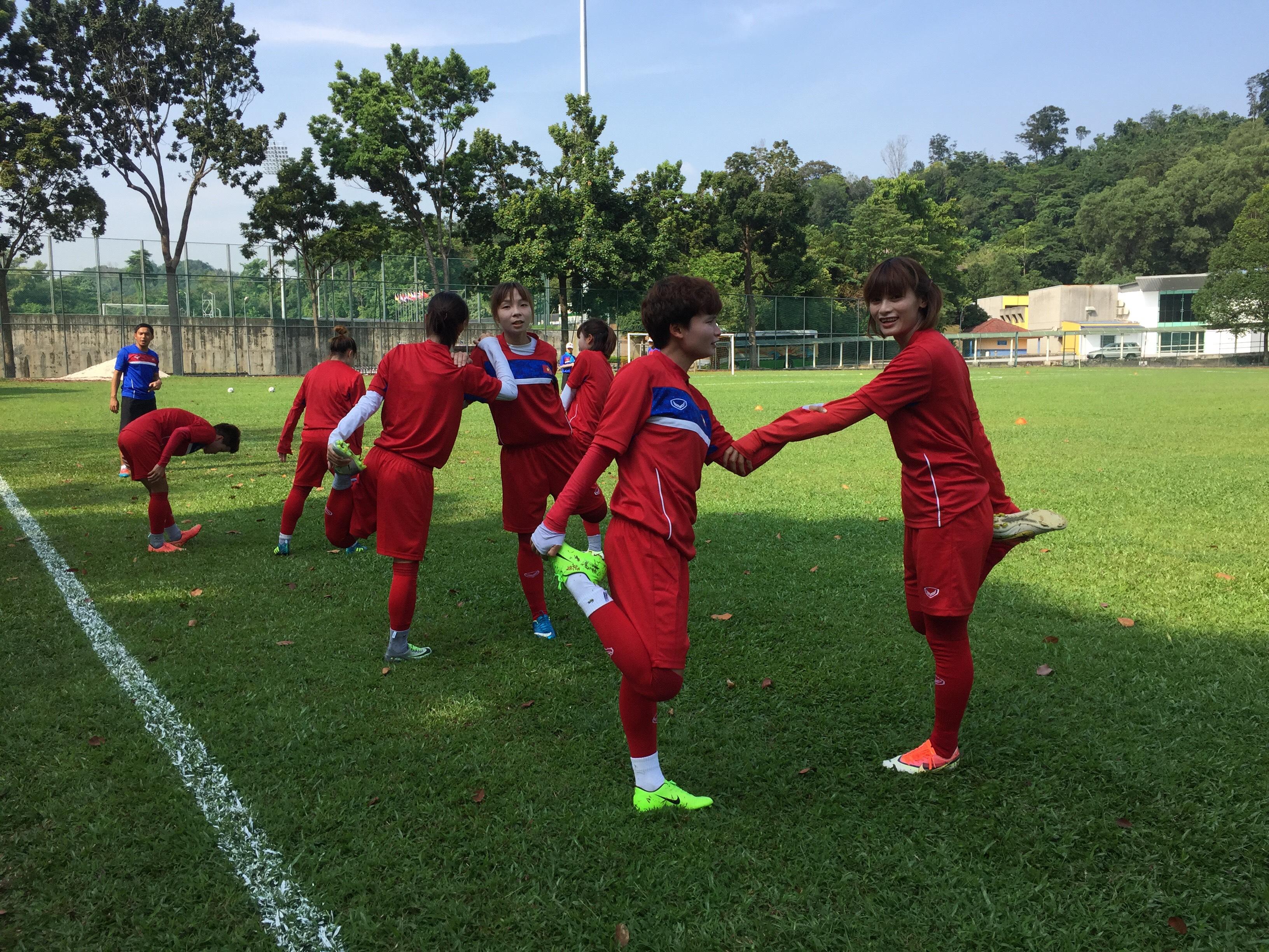 ĐT nữ Việt Nam chuẩn bị cho trận đấu với tuyển nữ Thái Lan: Nước rút