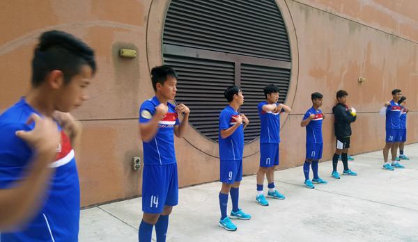 E ngại trời mưa to, U22 Việt Nam đổi kế hoạch tập luyện