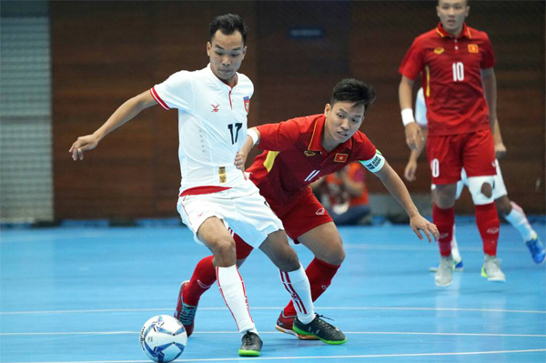 [Futsal nam SEA Games 29] Việt Nam vs Myanmar: 6-1