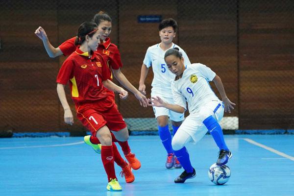 [Futsal nữ SEA Games 29] Việt Nam vs Malsysia: 1-1