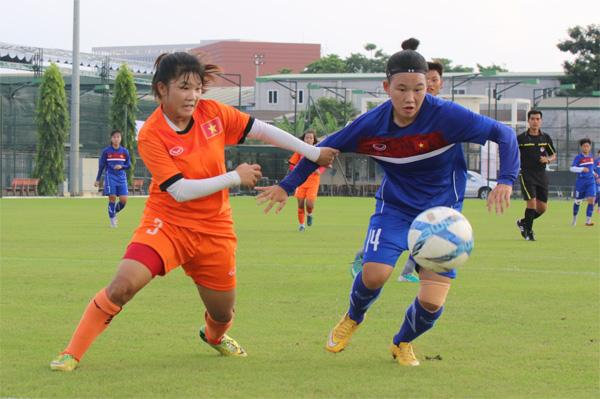 Đội tuyển U19 nữ QG đấu tập với Dự tuyển nữ U16 Quốc gia: Rà soát lực lượng