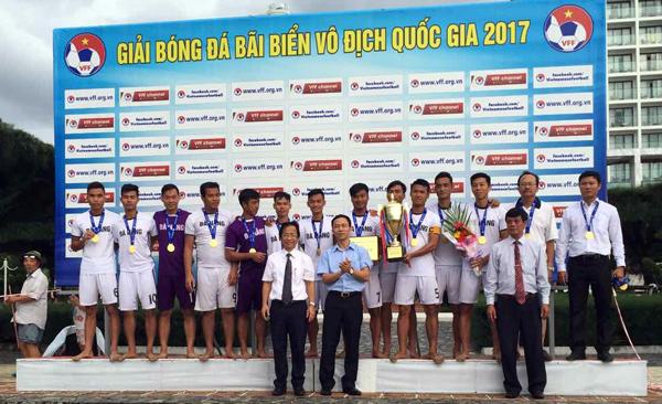 Giải bóng đá bãi biển VĐQG 2017:  Đà Nẵng bảo vệ thành công ngôi vô địch