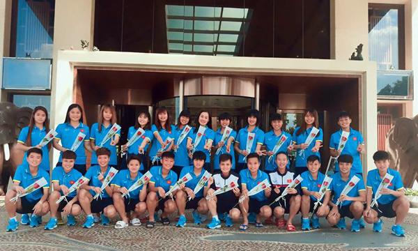 Lãnh đạo VFF chúc mừng ĐT U19 nữ Việt Nam nhân ngày 20/10