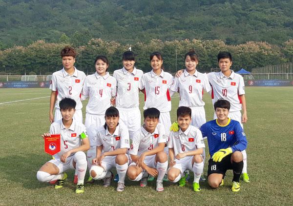 VCK U19 nữ châu Á 2017 (bảng B), Việt Nam vs Australia: 2-5
