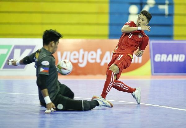 Giải futsal vô địch Đông Nam Á Cúp HDBank 2017: Philippines lại nhận mưa bàn thua