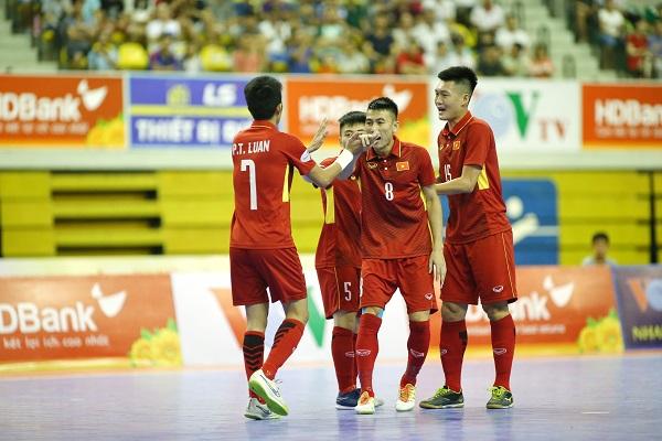 Giải futsal vô địch Đông Nam Á Cúp HDBank 2017: Việt Nam hoàn tất mục tiêu đầu tiên