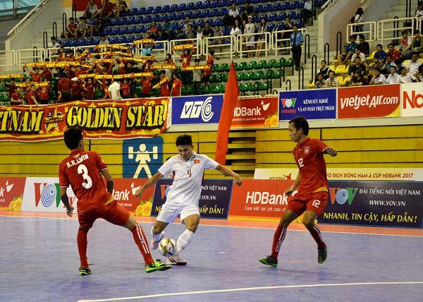 Giải futsal vô địch Đông Nam Á Cúp HDBank 2017: Việt Nam mất giải Ba về tay Myanmar