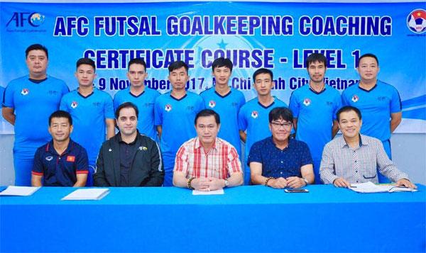 Khai giảng khoá học HLV thủ môn Futsal cấp độ 1 AFC 2017