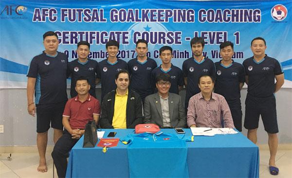Bế giảng khoá học HLV Thủ môn Futsal cấp 1 AFC 2017