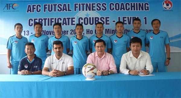 Khai giảng khóa học HLV thể lực Futsal cấp 1 AFC 2017