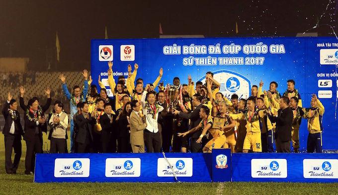 SLNA vô địch Cúp QG Sứ Thiên Thanh 2017