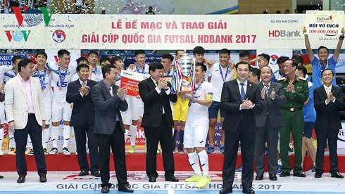 Thái Sơn Nam vô địch Giải futsal Cúp Quốc gia HDBank 2017