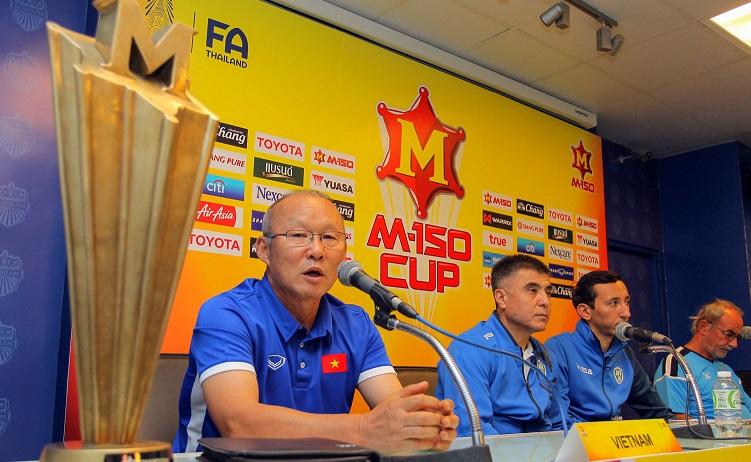 """HLV Park Hang-seo:  """"M-150 Cup là cữ dượt tốt để hướng tới VCK U23 châu Á"""""""