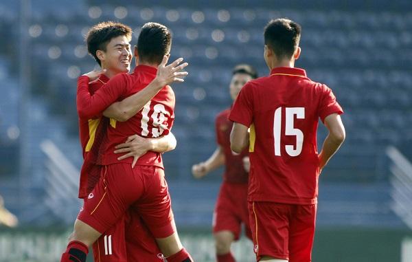 U23 Việt Nam thắng đậm U23 Myanmar trong trận ra quân tại M-150 Cup 2017
