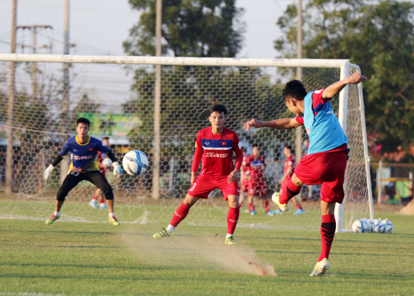 U23 Việt Nam trở lại sân tập, tích cực hướng tới trận đấu gặp U23 Uzbekistan