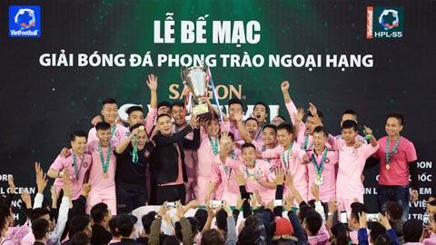 Tin Lớn & Anh Em lần thứ 2 đăng quang giải Ngoại hạng phủi Hà Nội