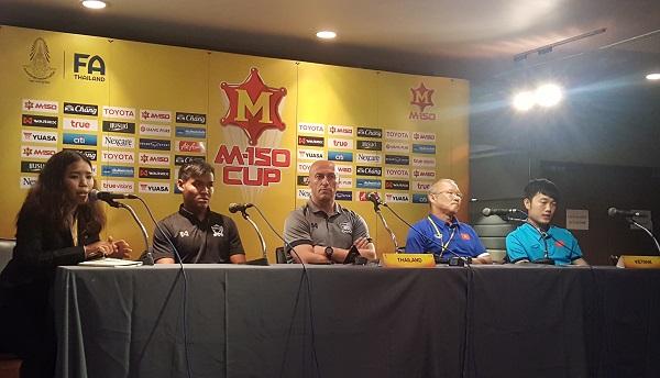 Phát biểu trước trận tranh giải Ba M-150 Cup: U23 Việt Nam và U23 Thái Lan đều không đặt nặng kết quả thắng thua