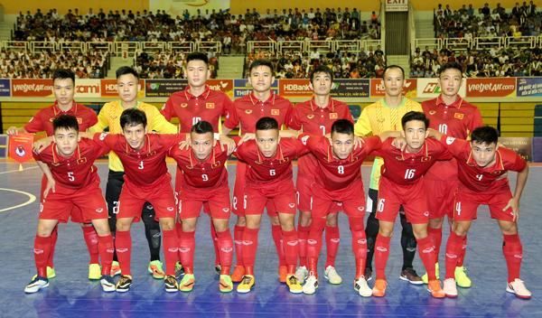 Danh sách ĐT futsal Việt Nam tập trung chuẩn bị tham dự VCK châu Á 2018